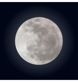 Realistic shining full moon in the dark blue sky vector image