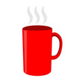red tea cup sign 2812 vector image