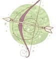 sagittarius zodiac sign vector image