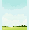 spring and autumn landscape vector image