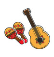 traditional national mexican instruments with vector image
