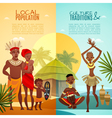 African Tribal Life Vertical Flat Banners vector image