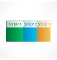 Arrows steps design template vector image