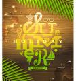Summer holidays type design vector image
