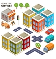 Isometric city set vector image vector image