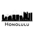Honolulu silhouette vector image