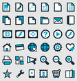 Blue Publishing Icons vector image