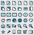Blue Publishing Icons vector image