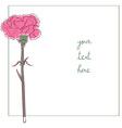 carnation minimal card vector image