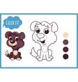 Cute little puppy Cartoon character vector image