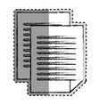 sticker monochrome blurred of document file vector image