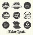 Vintage Poker Labels vector image