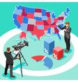 Election News Infographic Spokesman Isometric vector image