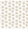 Dog paw pattern vector image
