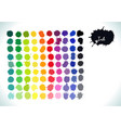 colorful watercolor rainbow splashes set vector image