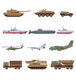 military vehicles set vector image
