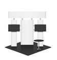 trade conference exhibition stand vector image