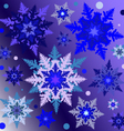 snowflakes on the gradient square background vector image