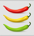 realistic red yellow and green hot natural vector image