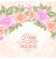 Sakura holiday invitation card vector image vector image