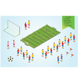 Isometric detail Football players in stadium vector image vector image