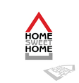 home sweet home icon vector image