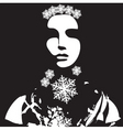 winter portrait vector image