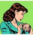 girl Thursday watch runs businesswoman vector image vector image