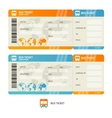 Bus ticket vector image