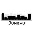 Juneau silhouette vector image vector image