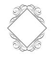 calligraphy diamond pattern vector image