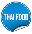 thai food round blue sticker isolated on white vector image