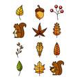 hello autumn decoration seamless pattern design vector image