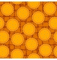 round cookie seamless background pattern vector image
