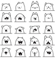 Set of 20 different emotions cat Anime doodle vector image