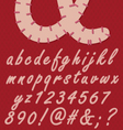Stitched numbers and letters vector image
