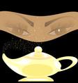 golden oriental lamp vector image