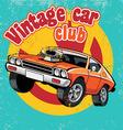 retro car club vector image vector image