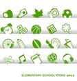 Education Icons basics elementary school vector image