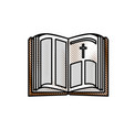 Holy bible open vector image