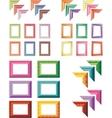 elegant and colorful art frames vector image