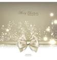 Elegant Christmas background with bow and place vector image vector image