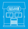 western saloon icon outline style vector image vector image