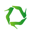 Recycle shoes- eco friendly concept vector image