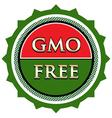 GMO Free Label vector image vector image