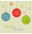 retro christmas balls card vector image