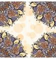 Beige and lavender mandala subtle striped seamless vector image