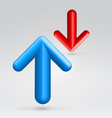 Red blue arrows opposition vector image