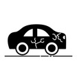 car crash in the road for accident disaster vector image