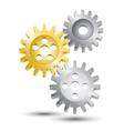 Cog wheel gear emblem vector image